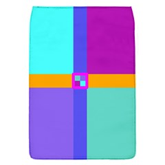 Right Angle Squares Stripes Cross Colored Flap Covers (s)  by EDDArt