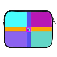 Right Angle Squares Stripes Cross Colored Apple Ipad 2/3/4 Zipper Cases by EDDArt