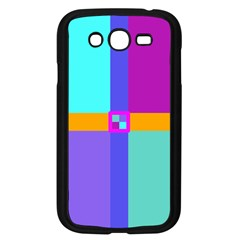 Right Angle Squares Stripes Cross Colored Samsung Galaxy Grand Duos I9082 Case (black) by EDDArt