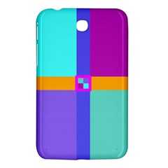 Right Angle Squares Stripes Cross Colored Samsung Galaxy Tab 3 (7 ) P3200 Hardshell Case  by EDDArt