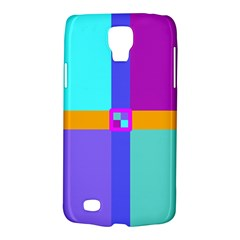 Right Angle Squares Stripes Cross Colored Galaxy S4 Active by EDDArt