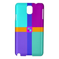 Right Angle Squares Stripes Cross Colored Samsung Galaxy Note 3 N9005 Hardshell Case by EDDArt