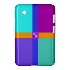 Right Angle Squares Stripes Cross Colored Samsung Galaxy Tab 2 (7 ) P3100 Hardshell Case  by EDDArt