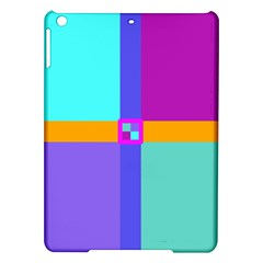 Right Angle Squares Stripes Cross Colored Ipad Air Hardshell Cases by EDDArt