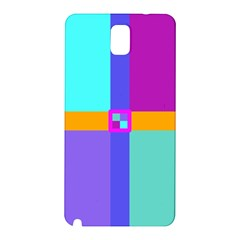 Right Angle Squares Stripes Cross Colored Samsung Galaxy Note 3 N9005 Hardshell Back Case by EDDArt