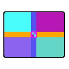 Right Angle Squares Stripes Cross Colored Double Sided Fleece Blanket (small)  by EDDArt