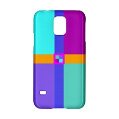 Right Angle Squares Stripes Cross Colored Samsung Galaxy S5 Hardshell Case  by EDDArt