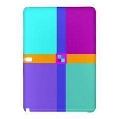Right Angle Squares Stripes Cross Colored Samsung Galaxy Tab Pro 10 1 Hardshell Case by EDDArt