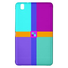 Right Angle Squares Stripes Cross Colored Samsung Galaxy Tab Pro 8 4 Hardshell Case