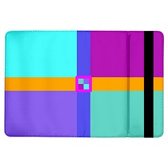 Right Angle Squares Stripes Cross Colored Ipad Air Flip by EDDArt