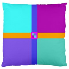 Right Angle Squares Stripes Cross Colored Standard Flano Cushion Case (two Sides) by EDDArt