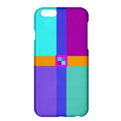 Right Angle Squares Stripes Cross Colored Apple Iphone 6 Plus/6s Plus Hardshell Case by EDDArt