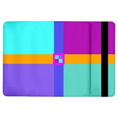 Right Angle Squares Stripes Cross Colored Ipad Air 2 Flip by EDDArt