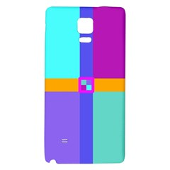 Right Angle Squares Stripes Cross Colored Galaxy Note 4 Back Case by EDDArt