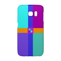 Right Angle Squares Stripes Cross Colored Galaxy S6 Edge by EDDArt
