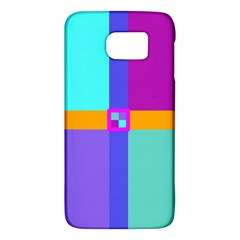 Right Angle Squares Stripes Cross Colored Galaxy S6