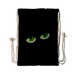 Halloween   Back Cat Drawstring Bag (small) by Valentinaart