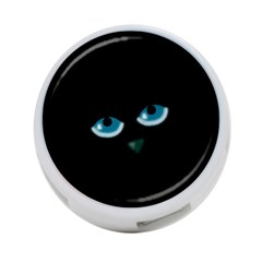 Halloween   Black Cat   Blue Eyes 4 Port Usb Hub (two Sides)  by Valentinaart