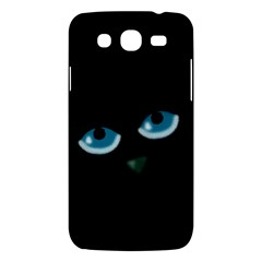 Halloween   Black Cat   Blue Eyes Samsung Galaxy Mega 5 8 I9152 Hardshell Case  by Valentinaart