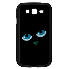 Halloween   Black Cat   Blue Eyes Samsung Galaxy Grand Duos I9082 Case (black) by Valentinaart