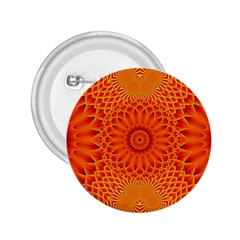 Lotus Fractal Flower Orange Yellow 2 25  Buttons by EDDArt