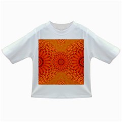 Lotus Fractal Flower Orange Yellow Infant/toddler T Shirts by EDDArt