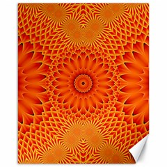 Lotus Fractal Flower Orange Yellow Canvas 16  X 20   by EDDArt