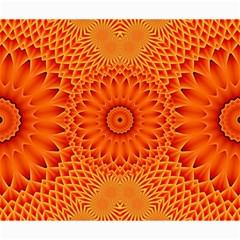 Lotus Fractal Flower Orange Yellow Canvas 20  X 24   by EDDArt