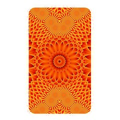 Lotus Fractal Flower Orange Yellow Memory Card Reader by EDDArt