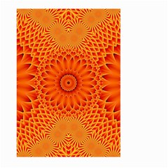 Lotus Fractal Flower Orange Yellow Large Garden Flag (two Sides) by EDDArt
