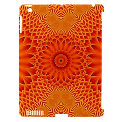 Lotus Fractal Flower Orange Yellow Apple Ipad 3/4 Hardshell Case (compatible With Smart Cover) by EDDArt