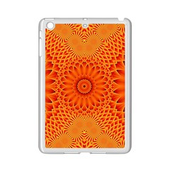Lotus Fractal Flower Orange Yellow Ipad Mini 2 Enamel Coated Cases by EDDArt