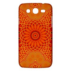 Lotus Fractal Flower Orange Yellow Samsung Galaxy Mega 5 8 I9152 Hardshell Case  by EDDArt