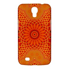 Lotus Fractal Flower Orange Yellow Samsung Galaxy Mega 6 3  I9200 Hardshell Case by EDDArt