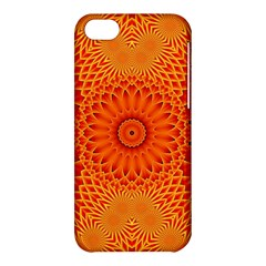 Lotus Fractal Flower Orange Yellow Apple Iphone 5c Hardshell Case by EDDArt