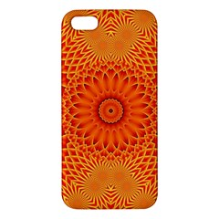 Lotus Fractal Flower Orange Yellow Iphone 5s/ Se Premium Hardshell Case by EDDArt