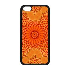 Lotus Fractal Flower Orange Yellow Apple Iphone 5c Seamless Case (black) by EDDArt