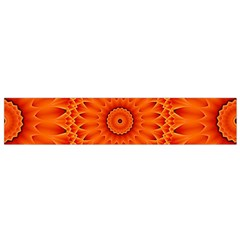 Lotus Fractal Flower Orange Yellow Flano Scarf (small) by EDDArt