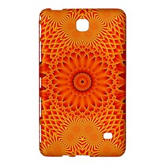 Lotus Fractal Flower Orange Yellow Samsung Galaxy Tab 4 (8 ) Hardshell Case  by EDDArt