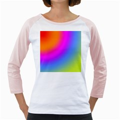 Radial Gradients Red Orange Pink Blue Green Girly Raglans by EDDArt