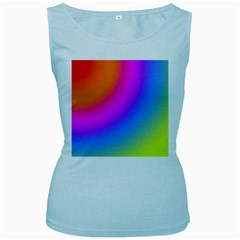 Radial Gradients Red Orange Pink Blue Green Women s Baby Blue Tank Top by EDDArt
