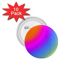 Radial Gradients Red Orange Pink Blue Green 1 75  Buttons (10 Pack) by EDDArt