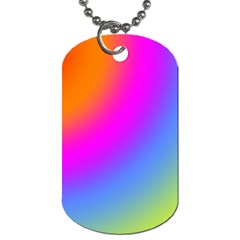 Radial Gradients Red Orange Pink Blue Green Dog Tag (two Sides) by EDDArt