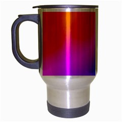 Radial Gradients Red Orange Pink Blue Green Travel Mug (silver Gray) by EDDArt