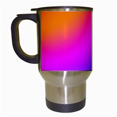 Radial Gradients Red Orange Pink Blue Green Travel Mugs (white) by EDDArt