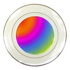 Radial Gradients Red Orange Pink Blue Green Porcelain Plates by EDDArt