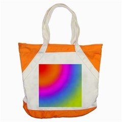 Radial Gradients Red Orange Pink Blue Green Accent Tote Bag by EDDArt