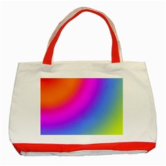 Radial Gradients Red Orange Pink Blue Green Classic Tote Bag (red) by EDDArt