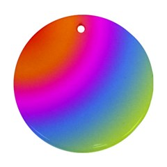 Radial Gradients Red Orange Pink Blue Green Round Ornament (two Sides)  by EDDArt