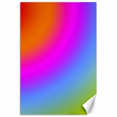 Radial Gradients Red Orange Pink Blue Green Canvas 20  X 30   by EDDArt